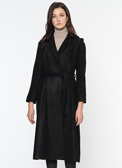 Dewberry Uzun Palto Siyah